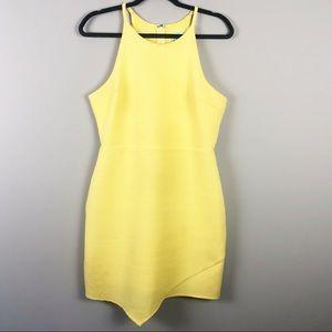 She + Sky | Yellow Textured Dress